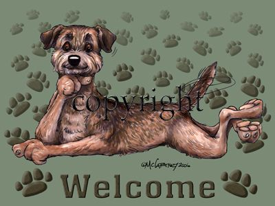Border Terrier - Welcome - Mat
