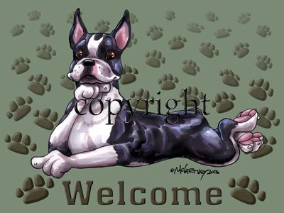 Boston Terrier - Welcome - Mat