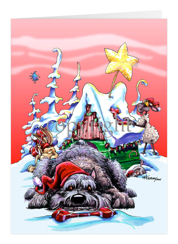 Bouvier Des Flandres - Doghouse - Christmas Card