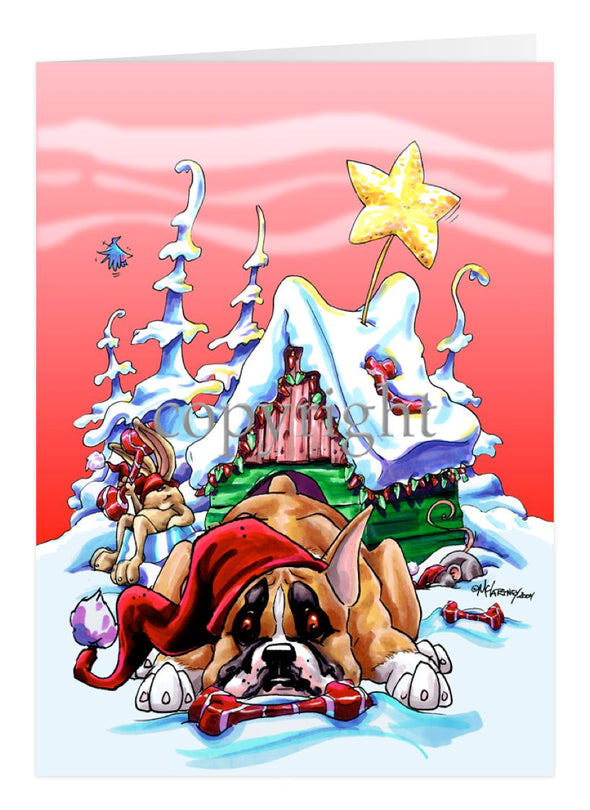 Boxer - Doghouse - Christmas Card