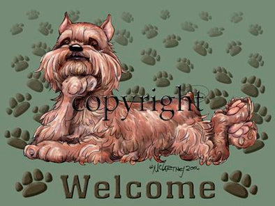 Brussels Griffon - Welcome - Mat