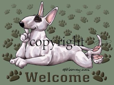 Bull Terrier - Welcome - Mat
