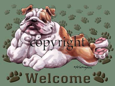 Bulldog - Welcome - Mat