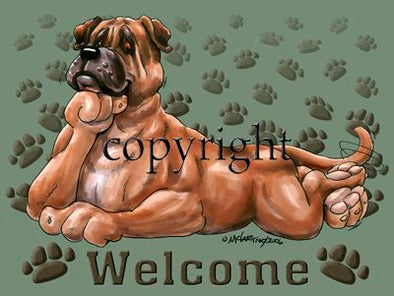 Bullmastiff - Welcome - Mat