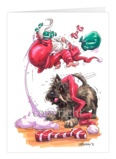 Cairn Terrier - Santa - Christmas Card