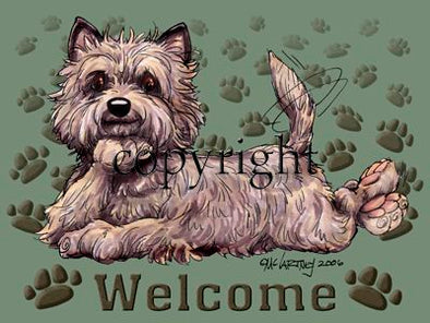 Cairn Terrier - Welcome - Mat