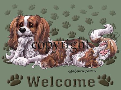 Cavalier King Charles Blenheim - Welcome - Mat