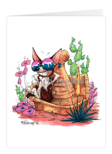 Chihuahua Smooth - Sombrero - Caricature - Card