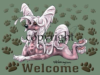 Chinese Crested - Welcome - Mat
