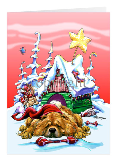 Chow Chow - Doghouse - Christmas Card