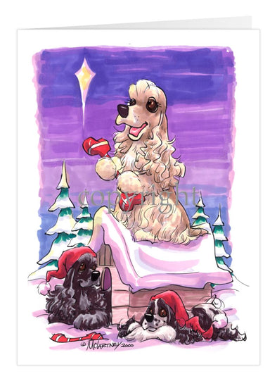 Cocker Spaniel - Rooftop - Christmas Card