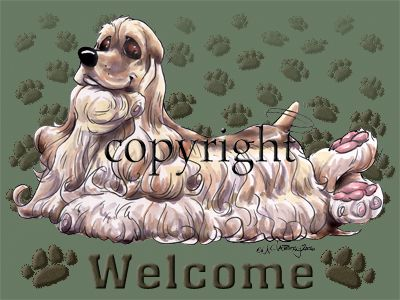 Cocker Spaniel - Welcome - Mat