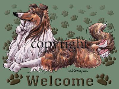 Collie - Welcome - Mat