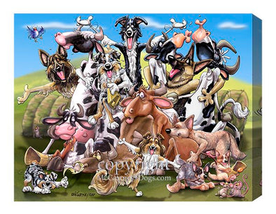 Cow Pile - Calendar Canvas