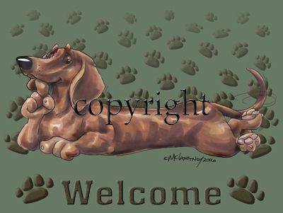 Dachshund - Welcome - Mat
