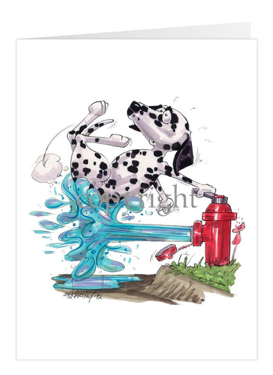 Dalmatian - Fire Hydren - Caricature - Card