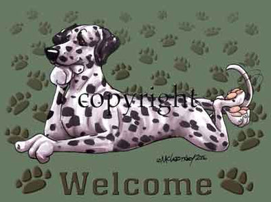 Dalmatian - Welcome - Mat