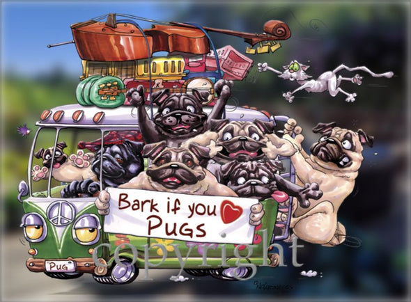 Pug - Bark If You Love Dogs - Decal