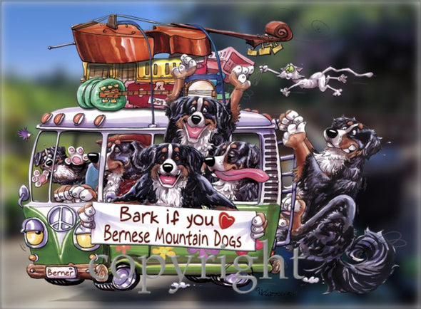 Bernese Mountain Dog - Bark If You Love Dogs - Decal