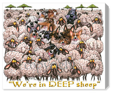 Deep Sheep - Calendar Canvas