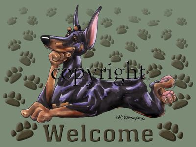 Doberman Pinscher - Welcome - Mat
