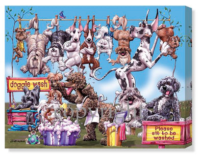 Dog Wash - Calendar Canvas