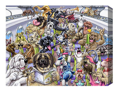 Dogs On A Plane - Calendar Canvas