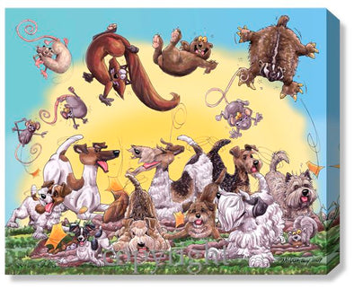 Earth Dogs - Calendar Canvas
