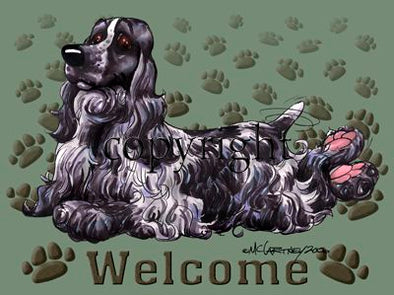 English Cocker Spaniel - Welcome - Mat