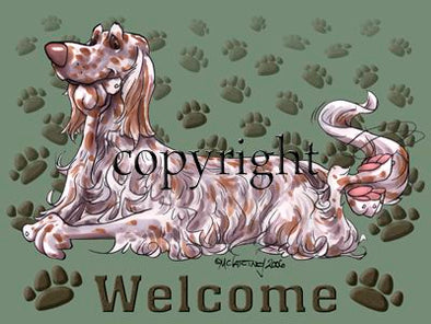English Setter - Welcome - Mat