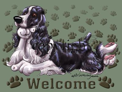 English Springer Spaniel - Welcome - Mat