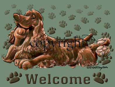 Field Spaniel - Welcome - Mat
