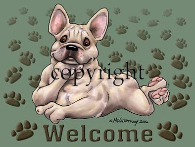 French Bulldog - Welcome - Mat