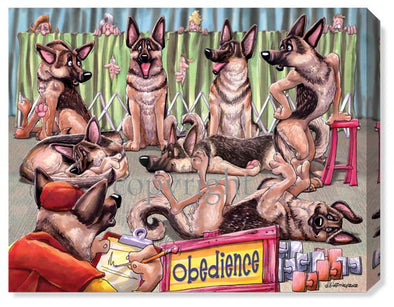 German Shepherd Obedience - Calendar Canvas