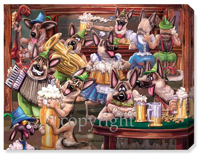 German Shepherd Octoberfest - Calendar Canvas
