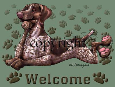 German Shorthaired Pointer - Welcome - Mat