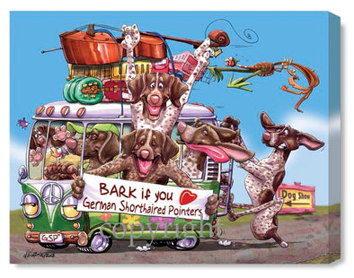 German Shorthaired Pointer - Bark If You Love - Canvas