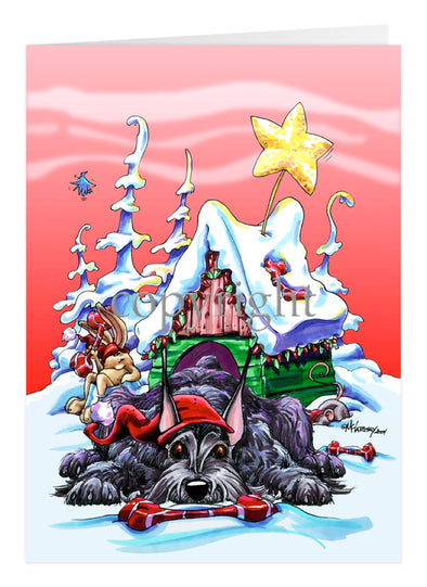 Giant Schnauzer - Doghouse - Christmas Card