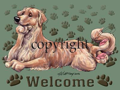 Golden Retriever - Welcome - Mat
