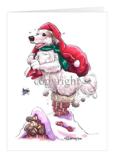 Great Pyrenees - Rooftop - Christmas Card