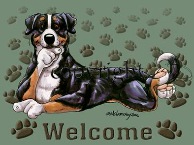 Greater Swiss Mountain Dog - Welcome - Mat