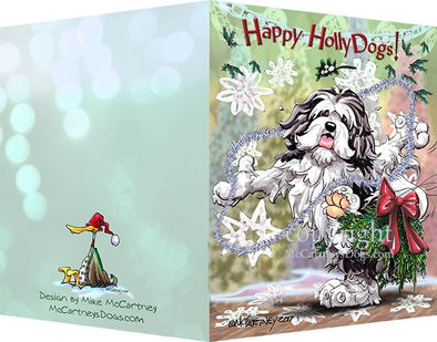 Havanese - Happy Holly Dog Pine Skirt - Christmas Card