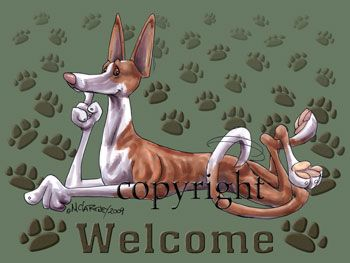 Ibizan Hound - Welcome - Mat