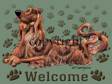 Irish Setter - Welcome - Mat