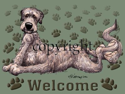 Irish Wolfhound - Welcome - Mat