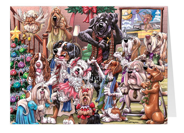 Its A Wonderful Dog - Christmas Gatherings - Christmas Card