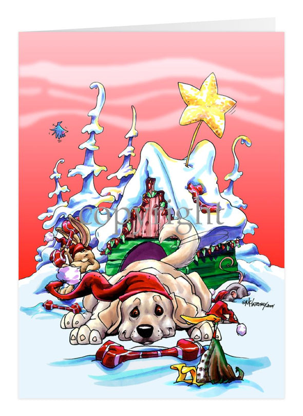 Labrador Retriever - Doghouse - Christmas Card
