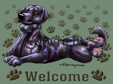 Labrador Retriever Black - Welcome - Mat