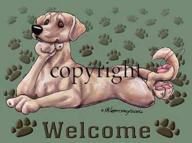 Labrador Retriever Yellow - Welcome - Mat