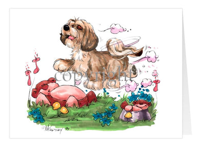Lhasa Apso - Puppy - Caricature - Card